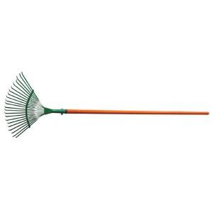 Round spade flower planting tool fallen leaf harrow steel wire harrow raking grass harrow wood handle stainless steel telescopic handle GHLT901122