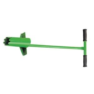 Round spade flower planting tool fallen leaf harrow steel wire harrow raking grass harrow wood handle stainless steel telescopic handle GHOT0107