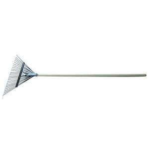 Round spade flower planting tool fallen leaf harrow steel wire harrow raking grass harrow wood handle stainless steel telescopic handle GHLT9010