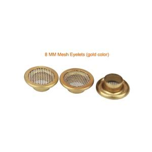 8mm Gold Color Mesh Eyelets