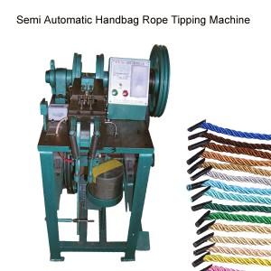 Semi automatic handbag rope tipping machine