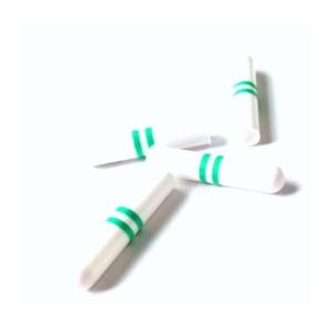White Shoelace Plastic Tips